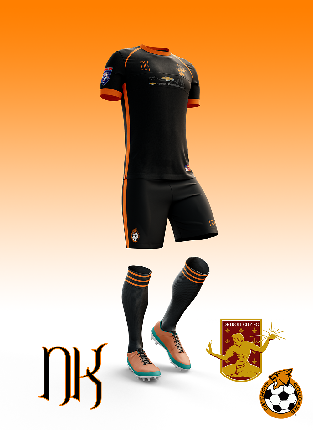From there it is easy to deduce that ours will be black and orange. Here it  is folks, our first non-white secondary kits. That's pretty exciting.